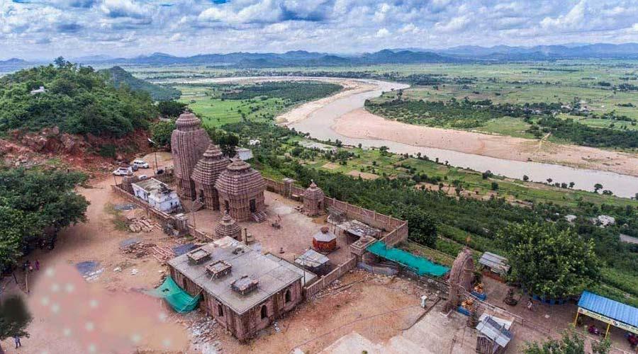 Aerial View of Tara Tarini Temple